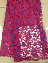 И африканский шнур кружево / африканский гипюр кружевная ткань для ну вечеринку платье! Fg352-2