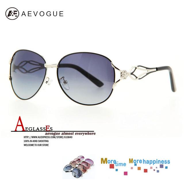 Aevogue роскошь марка поляризованные солнцезащитных очков женщины горный хрусталь украшение очки полароид линзы 20 шт. / lot AE0143