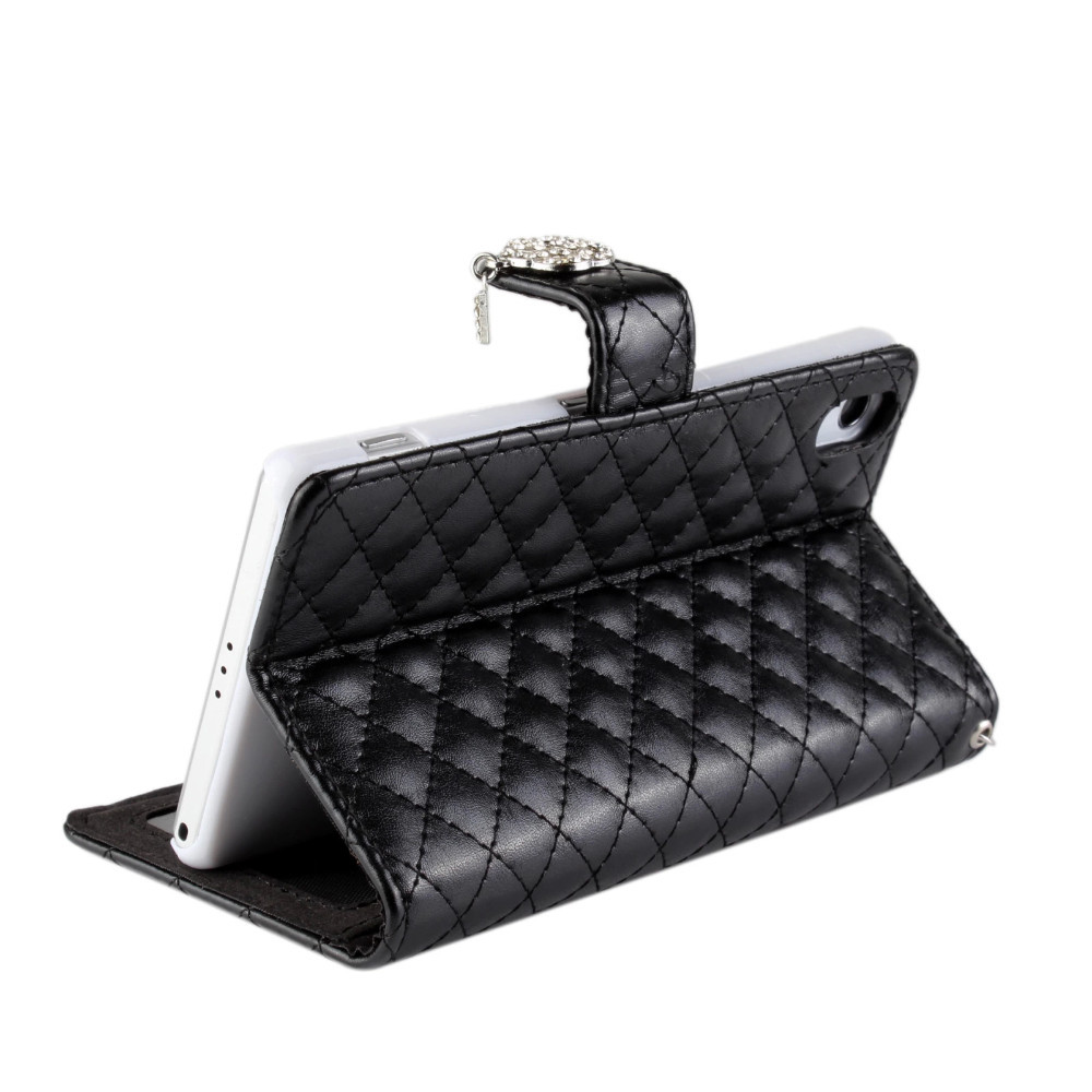 Famous brand Wallet With Stand Genuine Leather Case for Sony Xperia Z2 Famous brand Phone Accessories Luxury Cover for Xperia Z2