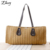 2016 Hot Sale Women's Canvas Bag High Quality Fashion Designers Handbags Beach Bags Straw Tote Shoulder Bag Women Straw Handbag