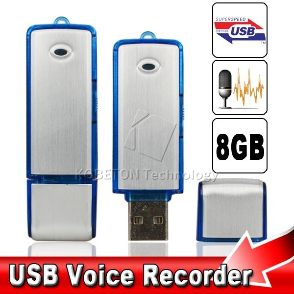 2 in 1 Mini 8GB USB 2.0 Digital Voice Recorder Dictaphone Rechargeable Recording Pen Drive Sound Audio Recorder 150 Hours WAV(China (Mainland))