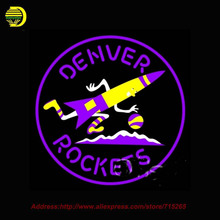 Neon Sign Denver Rockets Real Glass Tube Handcrafted Free Design Recreation Room Iconic neon signs for bar Neon Skull Sign 24x24(China (Mainland))