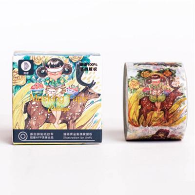 1 Pc / Pack 3cm Wide Original Illustration Alice &amp; Flowers Washi Tape Adhesive Tape Diy Scrapbooking Sticker Label Masking Tape<br><br>Aliexpress