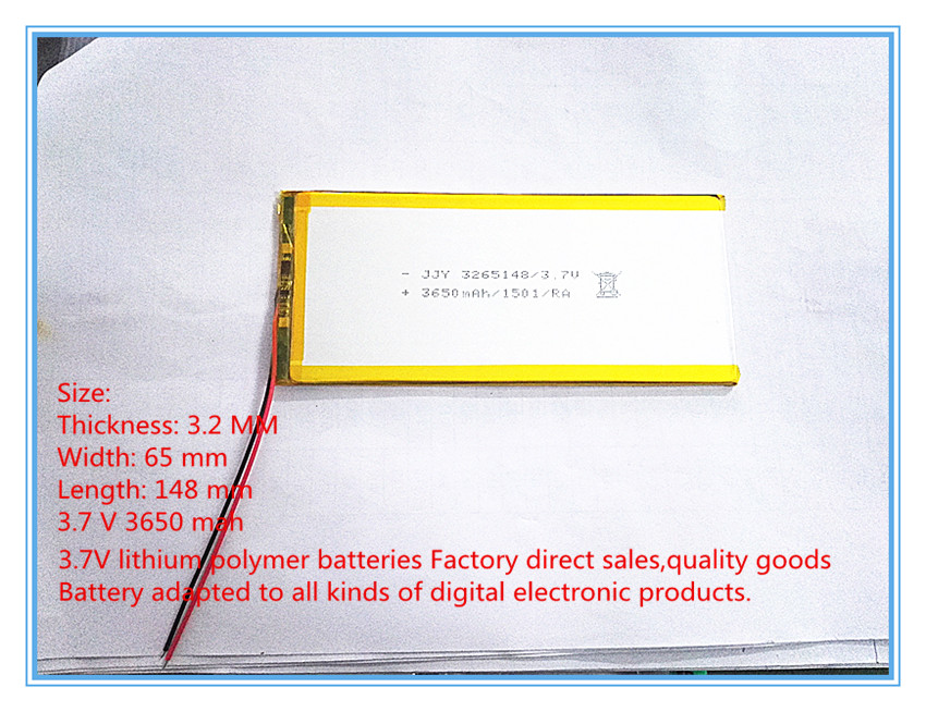 Free shipping chi for hi8 3265148 3650 ma polymer lithium battery 3.7 V tablets<br><br>Aliexpress