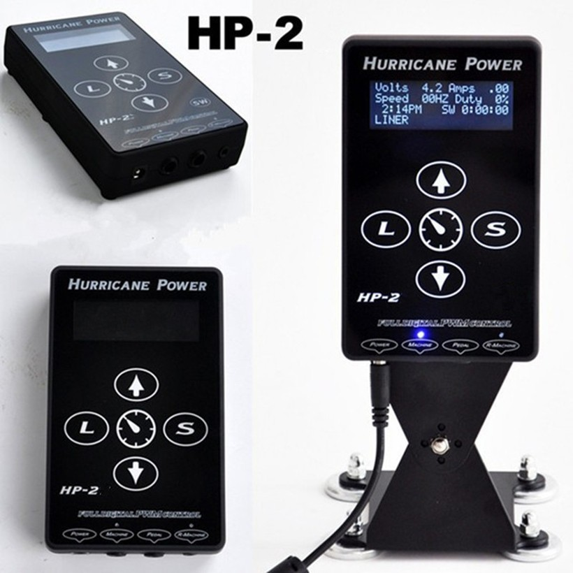 2015-newest-1pcs-hurricane-HP-2-tattoo-power-supply-1pcs-tattoo-cllipcord-1-foot-pedal-for