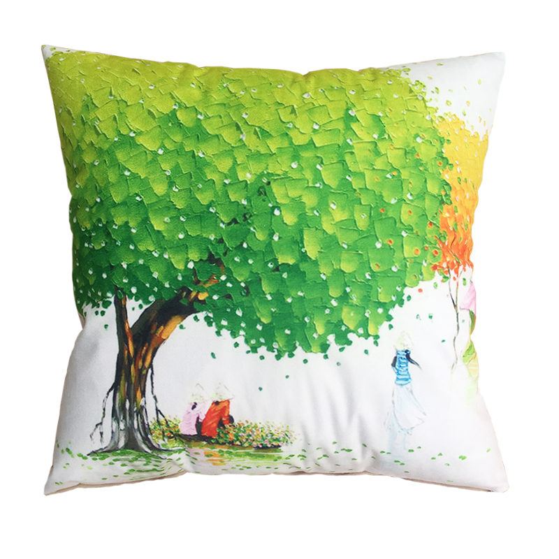 RUBIHOME New Design Creative Tree Decorative Cushion Cover Throw Pillowcase Plush Fabric Home ...