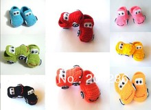 Baby Toddler shoes, baby car Crochet Cotton boots, handmade fashion baby shoes 5pairs(China (Mainland))