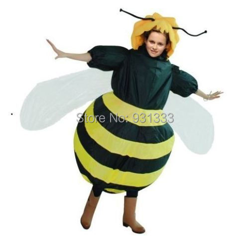 Party Bar Role Play Clothes Lovely Fancy Inflatable Bee Costume(China (Mainland))