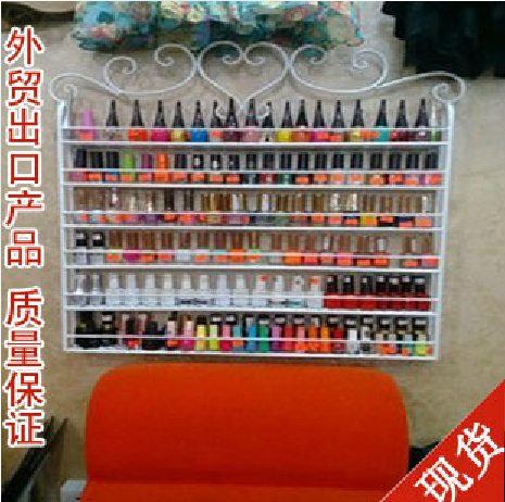 Iron nail polish rack oil store shelf wall shelving cosmetic cream display cabinets  -  naierwa du's store store