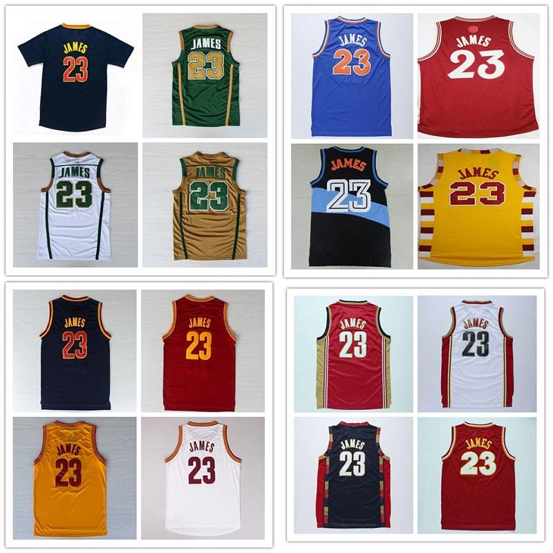 23 James Christmas Basketball Jersey Stitched Lebron James College Basketball Jerseys Throwback Lebron James Jersey(China (Mainland))