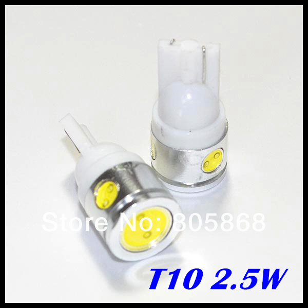 Free Shipping T10 Car LED High Power 2.5W 194 168 W5W led light  Side Width Lamp Light Bulb wholesale price