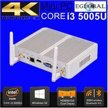 Eglobal Fanless PC 2GB RAM 32GB SSD i5 5005U Micro PC Windows 10 Mini Computer HDMI VGA 4k HTPC Media Server 3-year Warranty(China (Mainland))