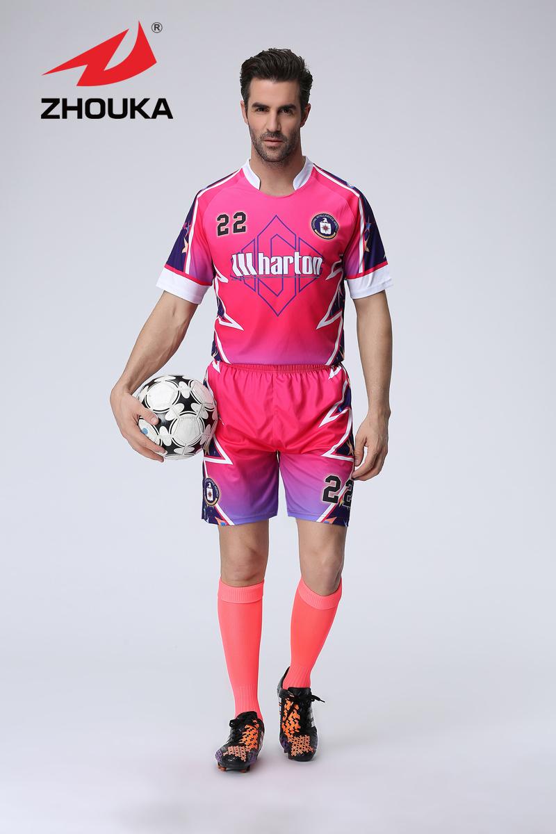 2016 Newest Thai quality material soccer jersey football team jersey, custom original football uniform(China (Mainland))