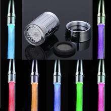 7 colores Mini LED grifo de agua ligera grifo llave envío gratis(China (Mainland))