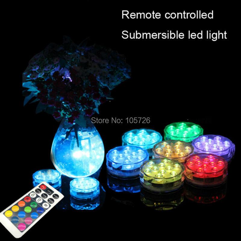 wholesale waterproof led candle wireless control illuminate flower vase decoration multiple color changing submersible light(China (Mainland))