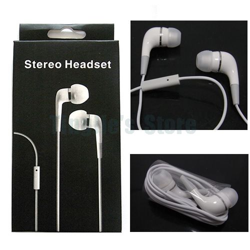 100pcs Stereo 3.5mm Headphones Earphone with Mic for Iphone 4S 4G 3G S Ipad Mini, with retail package(China (Mainland))