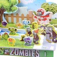 Plants Vs Zombies 3D Jigsaw Puzzle DIY Children's Intelligence Paper Puzzle Toys For Children(China (Mainland))
