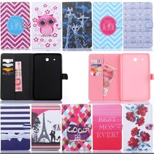 For Samsung Galaxy Tab E 9.6inch T560 T561 tablet painting cartoon PU Leather flip stand card wallet cover case S5E22D