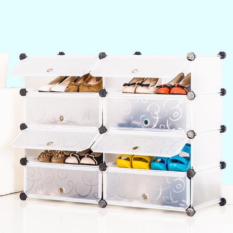 Diy magia de zapatos de pl stico kids closet organizador - Organizador zapatos ikea ...