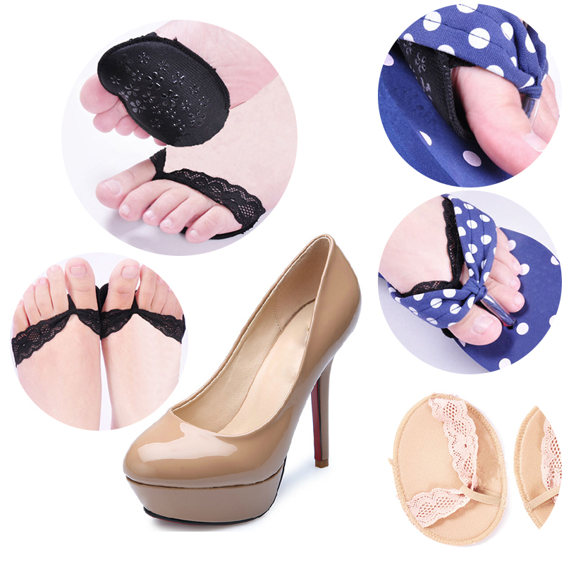 Woman Massage Non-slip Forefoot Half Sole Pads Cushions Sore Pain Insoles(China (Mainland))