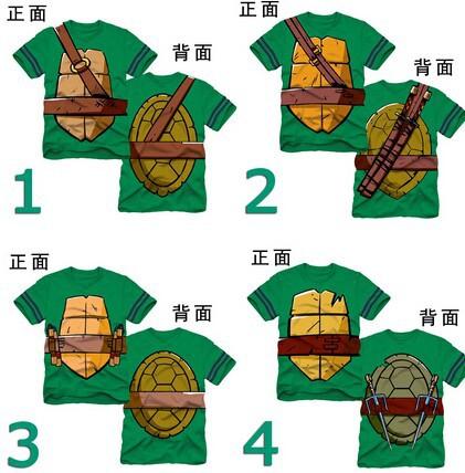Fashion character teenage mutant ninja turtles kids t shirt summer boys t shirt tops tee cartoon children clothing(China (Mainland))
