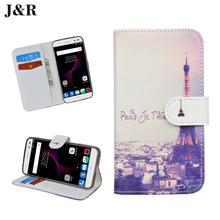 Luxury PU Leather Case ZTE Blade V7 Lite 5.0 Flip Cover Cartoon Painting Phone Bag Protective V7Lite J&R - official store