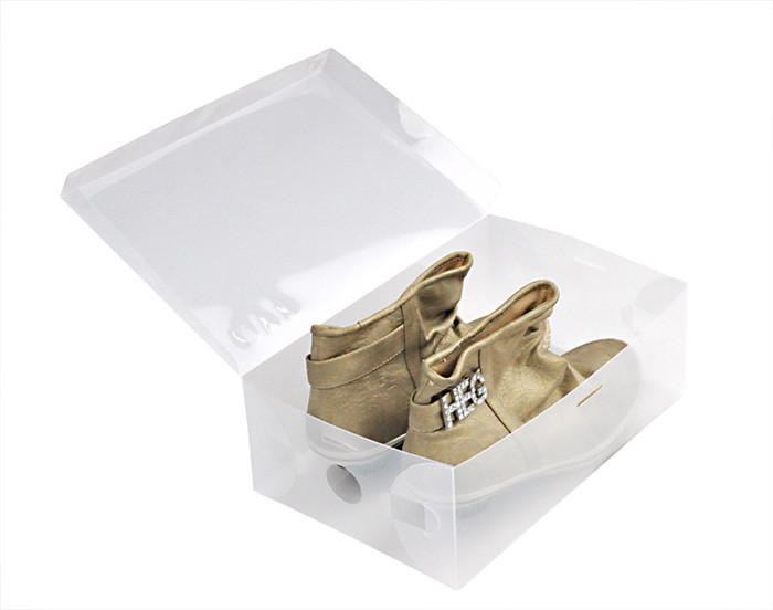 5pcs/lot shoes boxes with a lid Storage Boxes&Bins 28*18*9cm transparent plastic shoes box high heels/flat shoes free shipping(China (Mainland))