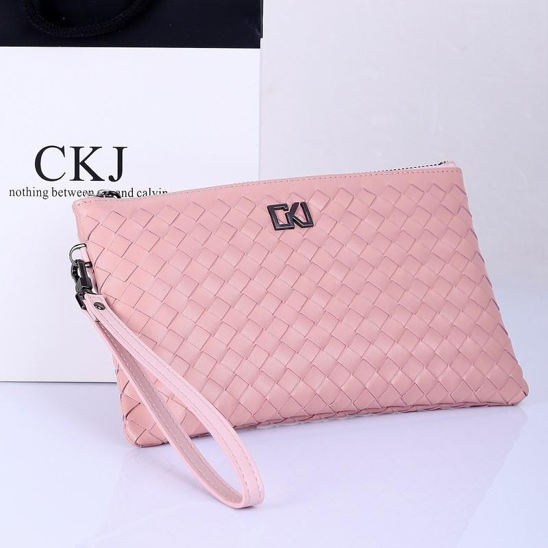 2014 women fashion new Weave brand Design handbag,female genuine leather luxury wallet,fashion organizer wallets storage bag,(China (Mainland))
