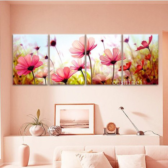Handmade pictures flowers landscape wall decor on wall 3 for 12x16 living room ideas