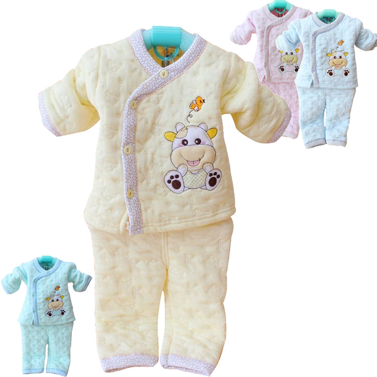 Retail baby clothes newborn autumn and winter quality underwear suit long sleeve baby wear / infant thermal clothing sets(China (Mainland))