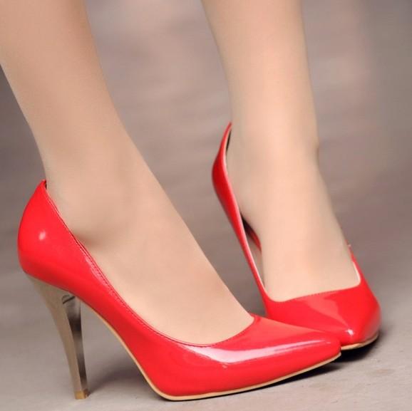 ENMAYER Silver Pink Red Gold Hot 2014 new fashion wedding women platform heel pumps and womens summer shoes<br><br>Aliexpress