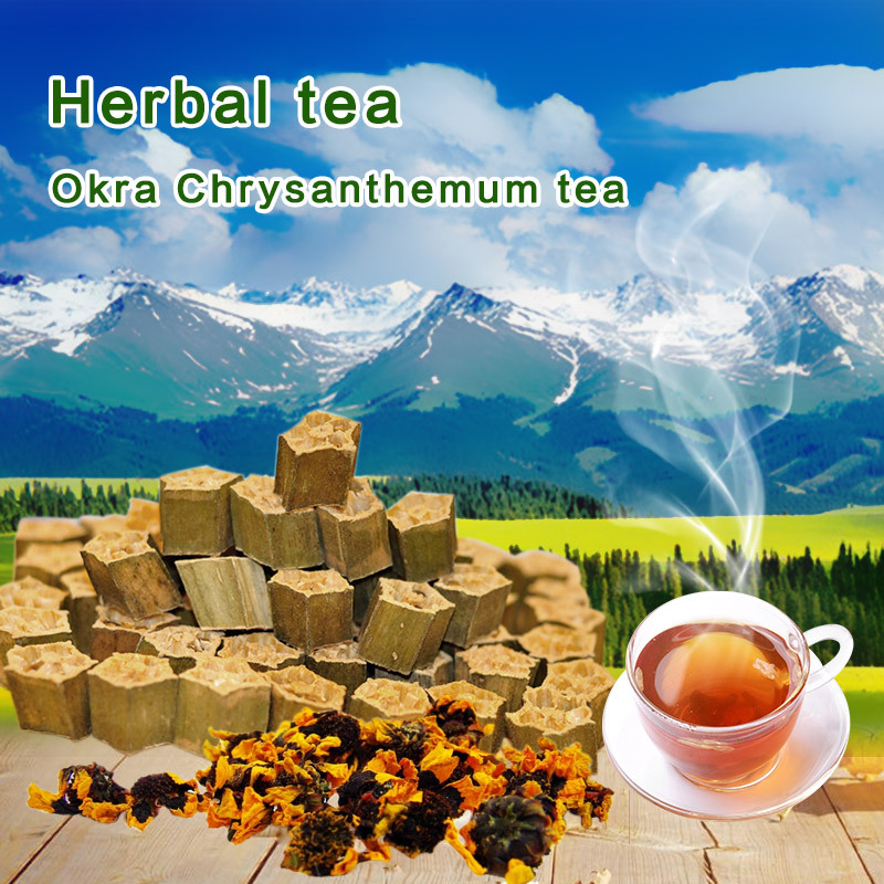 on sale high mountain snow chrysanthemum tea with okra ingredient for clearing heat health & beauty(China (Mainland))