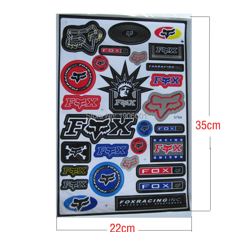 FOX Free shipping ATV decals graphics moto stickers wholesale Cheap motocross scooter available(China (Mainland))