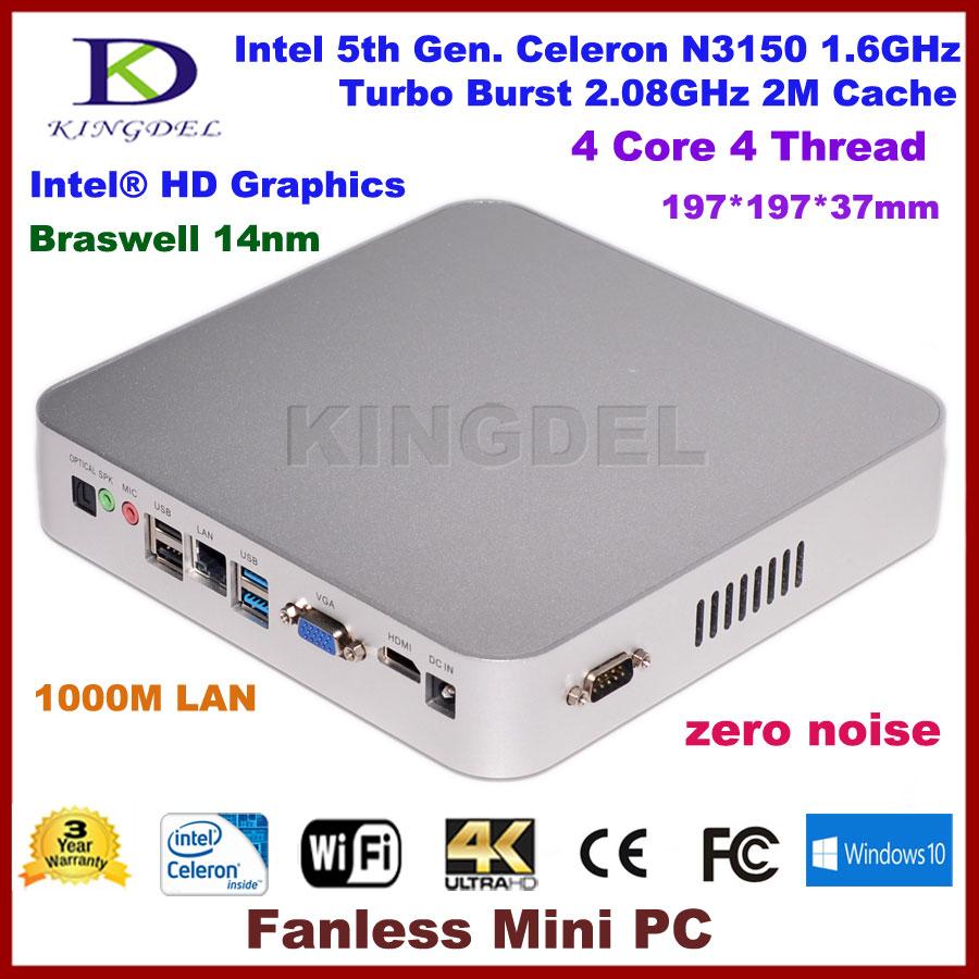2016 new Mini itx pc Intel Celeron N3150 Quad Core mini computer,WiFi HDMI VGA,COM rs232,industrial pc<br><br>Aliexpress