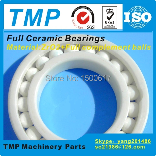 7306CE Full Ceramic Bearing (30x72x19mm) ZrO2 material Angular Contact Ball Bearing High Temperature Nonmagnetic insulated(China (Mainland))