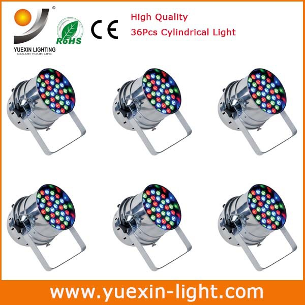 Express Free shipping 6pcs/lot 3W 36Pcs Led Flat Par Light,RGB LED Par Light,Party KTV Disco LED mini Par Stage Lighting(China (Mainland))