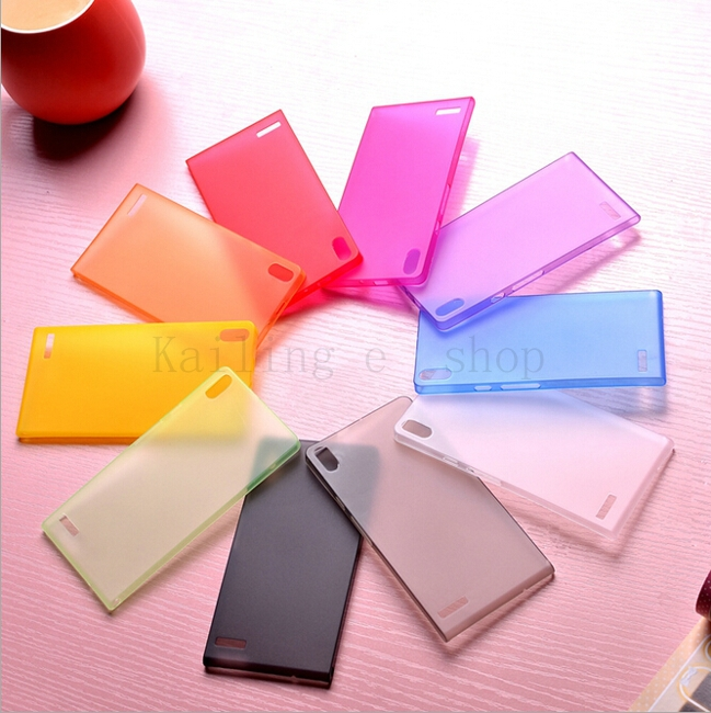 0.3mm Ultra Thin Matte Clear Slim Huawei Ascend P7 Case Transparent Cover for Huawei Ascend P7 case cover skin(China (Mainland))