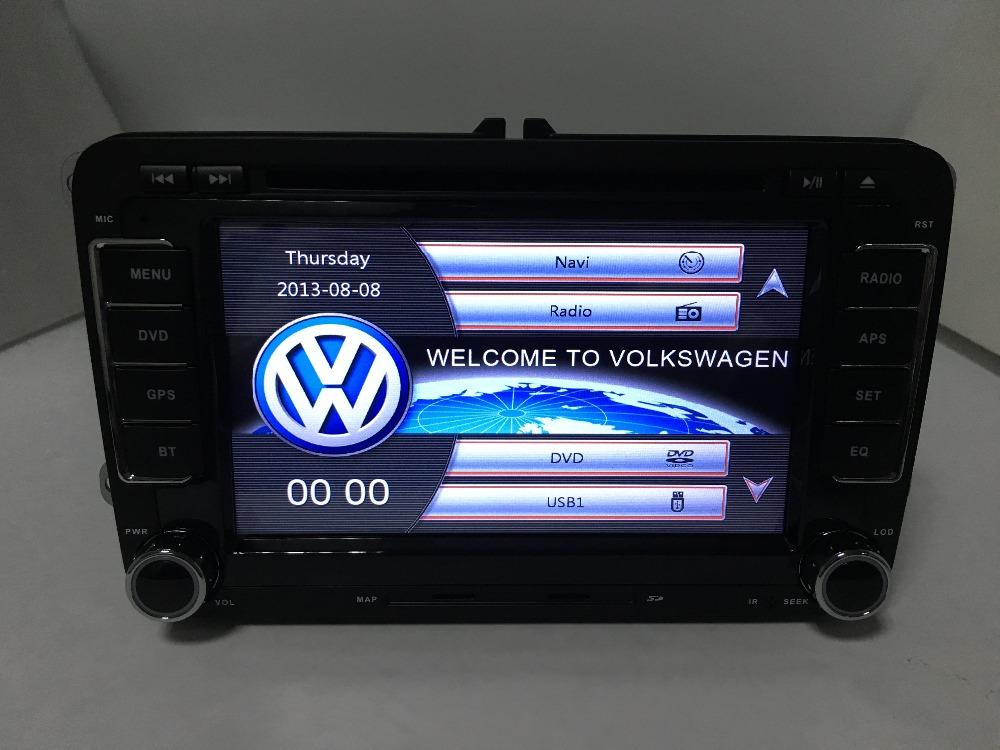 2 din vw radio rns 510 VW golf 4 golf 5 6 touran passat B6 sharan jetta caddy transporter t5 polo tiguan with gpscard(China (Mainland))