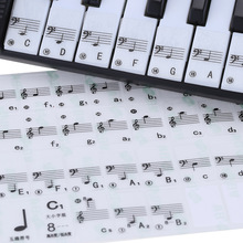 Hot Sale! Transparent Piano Keyboard Sticker 49/61 Key Electronic Keyboard 88 Key Piano Stave Note Sticker for White Keys(China (Mainland))