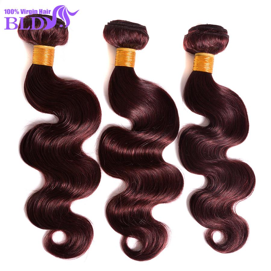"Fashion Hair Brazilian Body Wave 3 Bundles 7A Brazilian Virgin Hair #99J Red Wine Sale Human Hair 10""-30"" Great Hair Extensions(China (Mainland))"