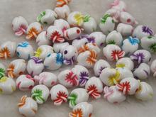 Горячие игрушки 50 шт. 8 мм цветовой гаммы круглый акриловые бусины с apple , diy бусины для детей хорошее рано опираясь шарм бусины