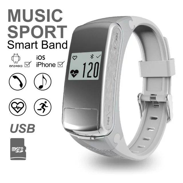F50 Heart Rate Monitor Smart Bracelet Smart Watch w Bluetooth earphone handsfree Smart Band Wireless Fitness Tracker Wristband(China (Mainland))