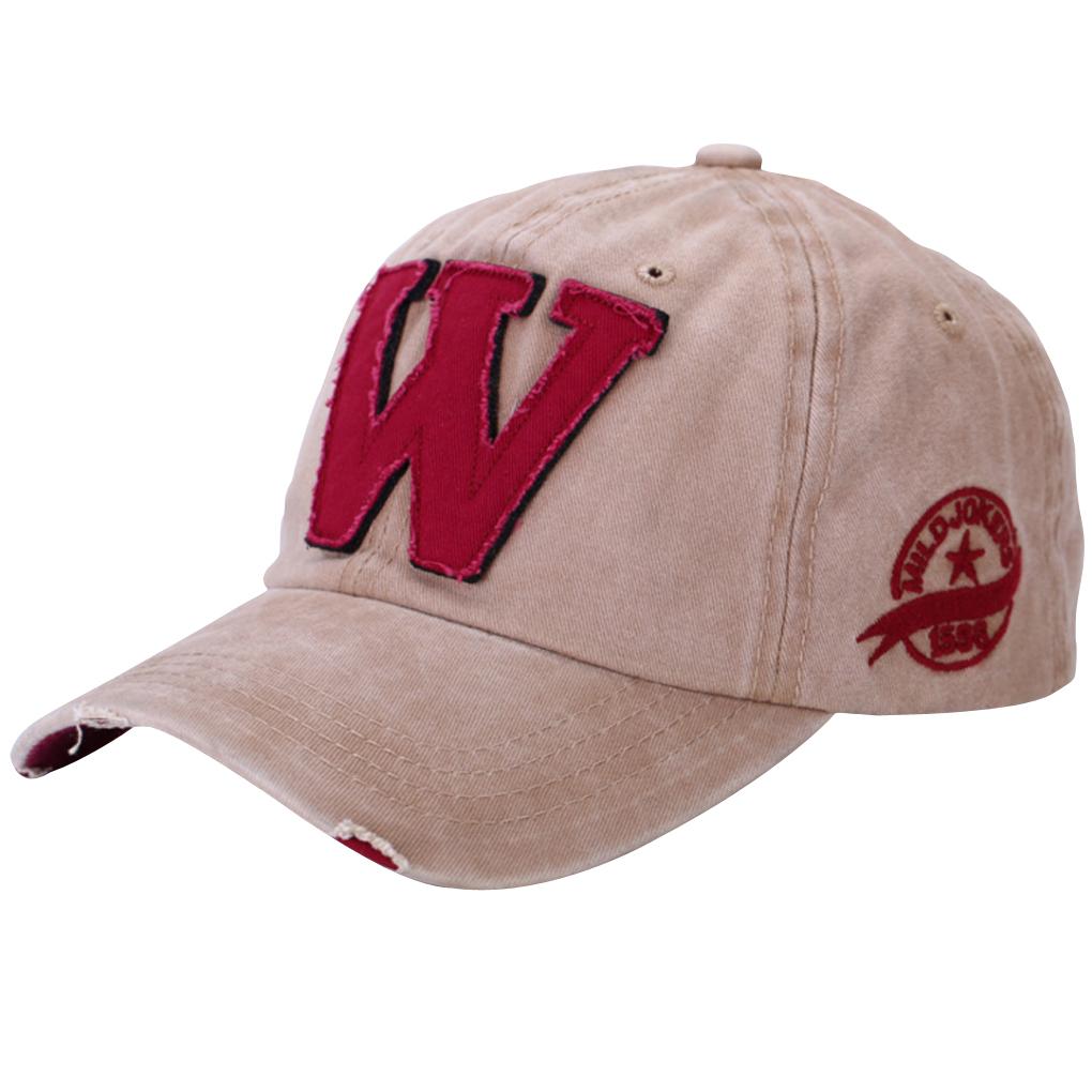 Letter W Pattern Baseball Caps Hip Hop Sun Hats For Men/Women Denim Blue(China (Mainland))