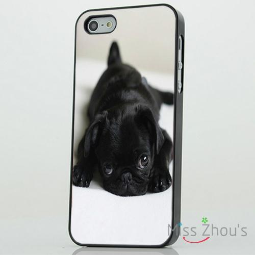 Cute Pug Puppy Dog Adorable back skins mobile font b cellphone b font cases for iphone