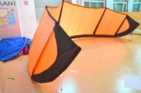12m kitesurfing + carbon 4 line bar with 25m 500lbs dyneema line+ leash