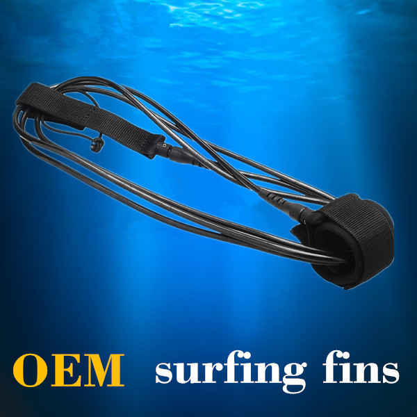 Fashions Crazysea High blue performance 6ft7mm surfboard leash with Polyurethane Nylon material black with clear core(China (Mainland))