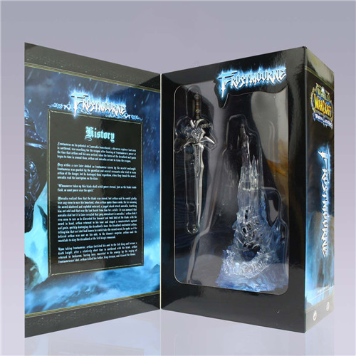 Game anime Frostmourne Sword Replica Lich King Arthas Metal Sword Costume lighting collection toy(China (Mainland))