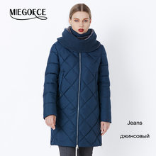 MIEGOFCE 2019 New Winter Women's Coat Bio Fluff Outerwear Parkas Fashion Style High Quality Jacket With Scarf Warm Women Coat(China)