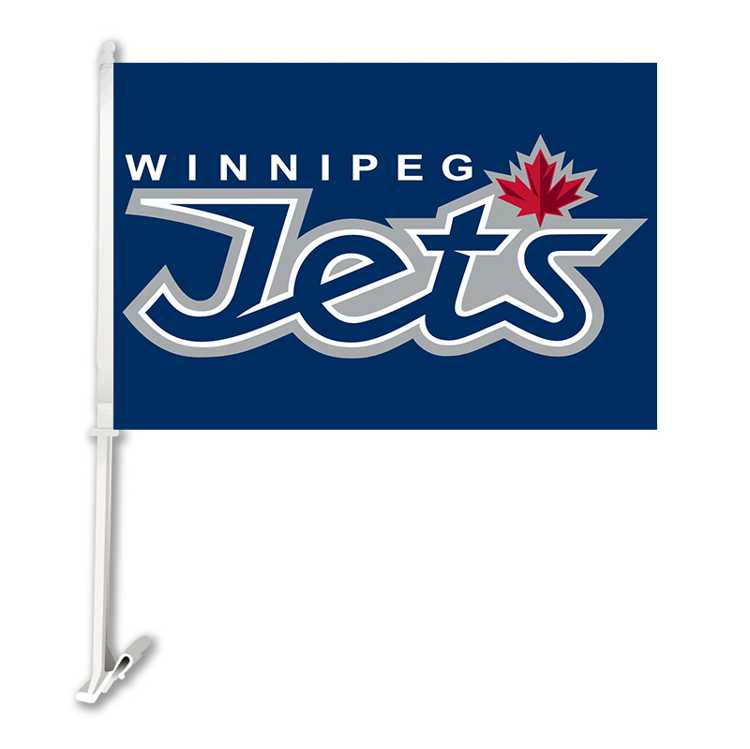 "Winnipeg jets car window flags12""x18"" car flag double"
