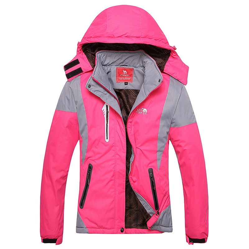 Women Camping & Hiking jacket Waterproof Windstopper soft shell lady jacket/warm mountaineering Coat 6color - Outdoor Specialist store